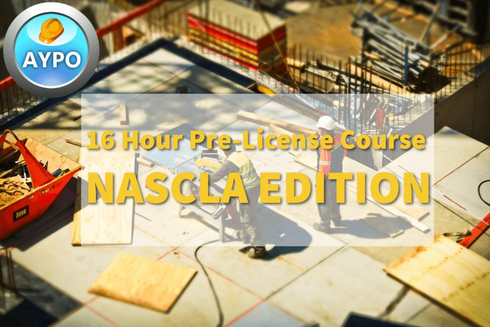 16 Hr Pre-License Course NASCLA Edition